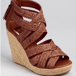 DV by Dolce Vita Tulle Woven Strappy Wedges